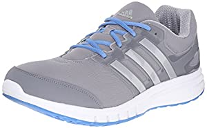 adidas Men's Galaxy Elite 2 M Running Shoe, Mid Grey/Silver/Super Blue, 9.5 M US