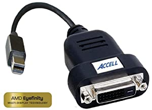 Accell B087B-006B UltraAV Mini DisplayPort to DVI-D Single-Link Active Adapter ATI Certified (Black)