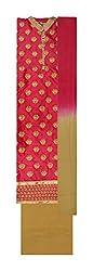 Gulmohar Women's Cotton Unstitched Dress Material (Pink)