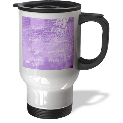 Tm_173089_1 Beverly Turner Valentine Design - Valentine Word On Purple Hugs, Kisses, Love Sweet Xo Always Together Happy - Travel Mug - 14Oz Stainless Steel Travel Mug