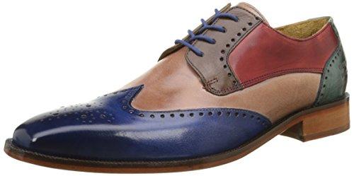 Melvin & Hamilton Jeff 14, Scarpe stringate uomo , Multicolore (Multicolor (Classic E Blue/Rose/Mid Brw/Red/Turquoise/Ls)), 45