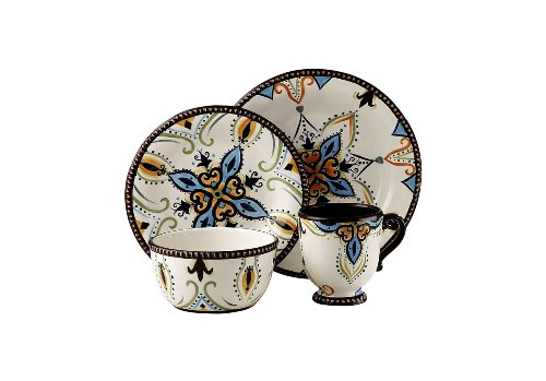 Tabletops Unlimited Dinnerware, Vida By Eva Mendes Dinnerware, Amalfi 4 Piece Place Setting