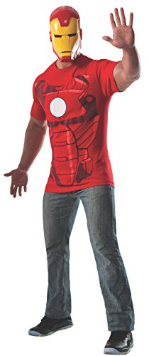 Rubie's Costume Men's Marvel Universe Iron Man Costume T-Shirt and Eye Mask