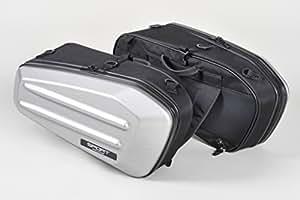 タナックス(TANAX)モトフィズ スポルトシェルケース サイドバッグ ヘアラインシルバー 容量36ℓ 片側18ℓ MFK-218