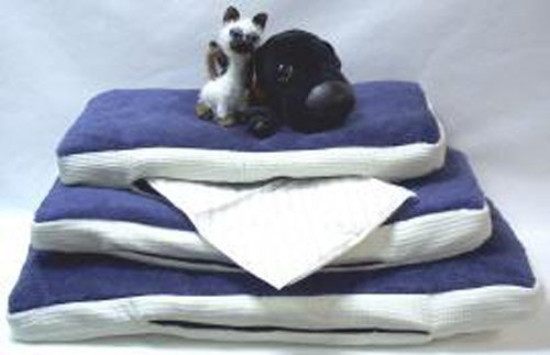 Lava Pet Cloud - Warming/Cooling Cushion For Your Pet - Blue/White - Size Large