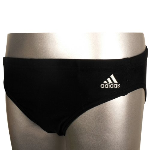 Boys Kids Adidas Infinitex Swim Swimming Brief Black Trunks Trunk Beach 24-28