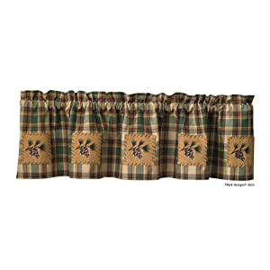 looking for pine cone window curtain set with valance and swags or