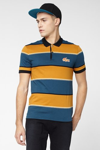 L!VE Short Sleeve Bold Stripe Polo