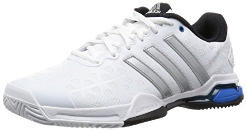 adidas PerformanceBarricade Club - Scarpe da Tennis Uomo, Bianco (Ftwr White/Matte Silver/Core Black), 41 1/3