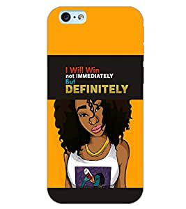 PrintDhaba QUOTE GIRL D-6902 Back Case Cover for APPLE IPHONE 6 PLUS (Multi-Coloured)