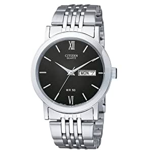 Citizen Quartz Day Date Stainless Steel Men's Watch - BK4050-54E