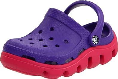 Crocs Duet Mule (Toddler/Little Kid),Ultra Violet/Raspberry,8-9 M US Toddler