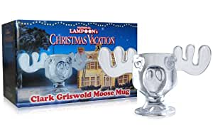 Officially Licensed National Lampoons Christmas Vacation Glass Moose Mug - Set of 2