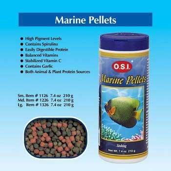 Ocean Star International Aosi1326 7.4-Ounce Pellet Marine Fish Food, Large