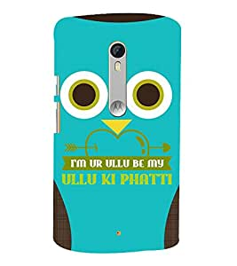 Graphical Cute Owl 3D Hard Polycarbonate Designer Back Case Cover for Motoroal Moto X Style