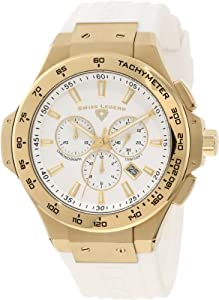 Swiss Legend Men's 40051-YG-02-R Maverick Chronograph White Dial Watch