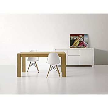 Modern Brushed Natural Oak Table 160x 90All.