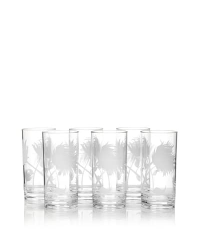 Zak Designs Set of 6 Aura Highball 19-Oz. Tumblers, Clear