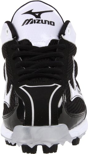 pictures of Mizuno Men's 9-Spike Lite Blaze Elite 3 Baseball Cleat,Black/White,12 M US