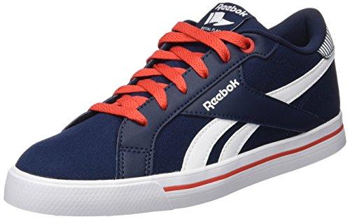 Reebok Royal Comp Low CVS, Scarpe da tennis bambini Multicolore Azul / Rojo / Blanco (Collegiate Navy / Motor Red / Wht) 33