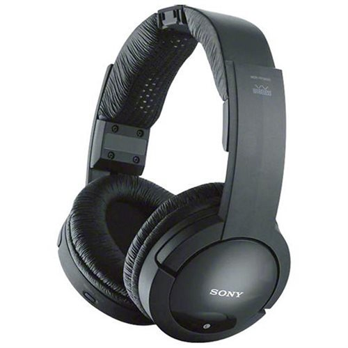 Sony 900MHz Wireless Stereo Noise Reduction Headphones With 40 mm Driver Units, Automatic Tuning, Up To 45 Meter (150 Ft.) Reception Range, 25 Hour Battery Life, Volume Control On Headphones, Easy Connection Of TV, Hi-Fi, And Other Components, Model MDR-RF985RK (Wireless 900 Mhz Tv Headphones compare prices)