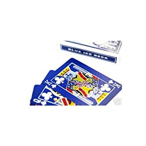 Bicycle Rider Back Reverse Blue Ice Deck (Generation 2) with Gaff Cards for Magic