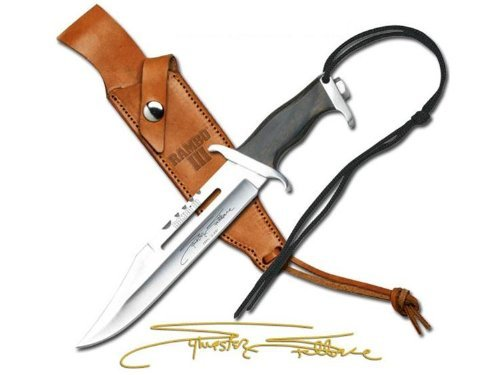 Officially Licensed RAMBO III MC-RBM3SS Officially Licensed Miniature Signature Edition Knife 7-Inch Overall