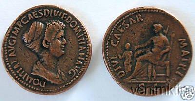 (DD S 48) Domitia Sestertius COPY