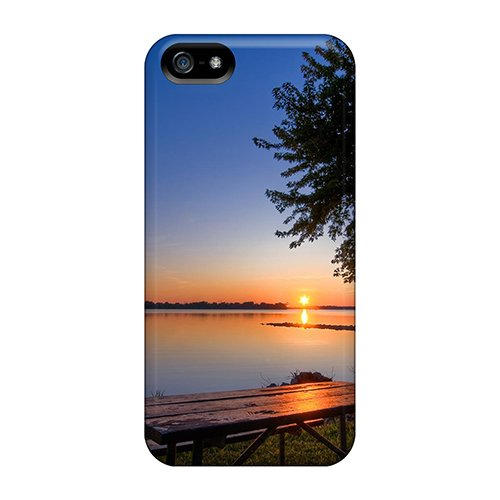 Snap-On BBQ Sunset Case Cover Skin Compatible With Iphone 5/5S