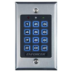Seco-Larm Enforcer Access Control Keypad, Indoor, Backlit