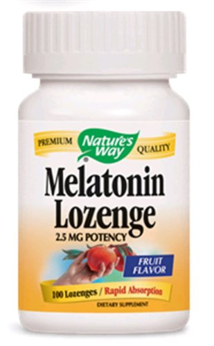 Natures Way Melatonin, 2.5Mg 100 Lozenges