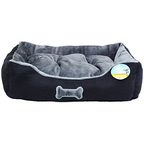 Me Amp My Black Amp Gray Small Tremendous Smooth Canine Mattress