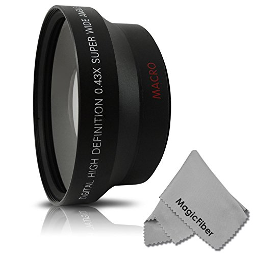 72Mm 0.43X Altura Photo Professional Hd Wide Angle Lens (W/ Macro Portion) For Canon (Ef 35Mm F/1.4L, Ef 85Mm F/1.2L Ii, Ef 135Mm F/2L), Nikon (85Mm F/1.4, 18-200Mm F/3.5 5.6G) Lenses + Magicfiber Microfiber Lens Cleaning Cloth