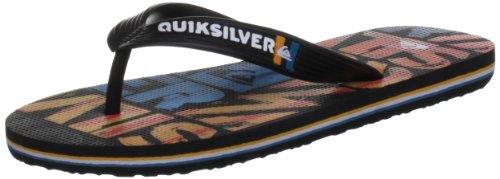 Quiksilver LITTLE MOLOKAI DIPPED KRBSL063, Infradito ragazzo, Multicolore (Mehrfarbig (BLACK BLUE ORG)), 38