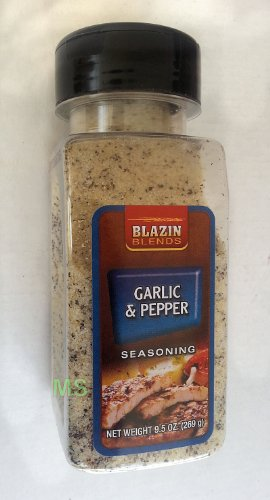 GARLIC & PEPPER Seasoning by Blazin Blends Spices 9.5 oz... mtc (639277576255)