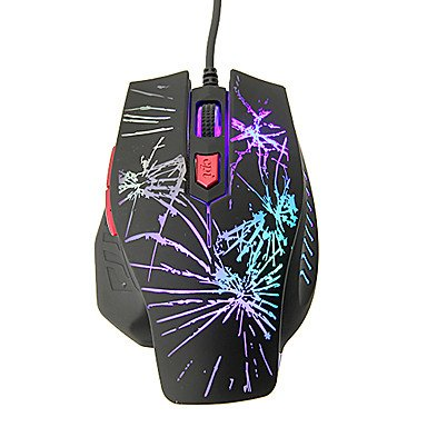 Mch-Kn-208 Shift Led High Definition Optical Wired Gaming Mouse(800/1200/1600/2400Dpi)