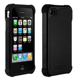 Cheap Ballistic Shell Gel (SG) Series Case for iPhone 4S / 4 - Black / Black