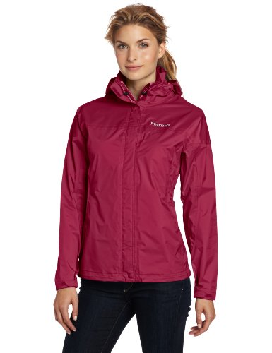 Marmot Women's Precip Waterproof Jacket - Dark Rose, Medium