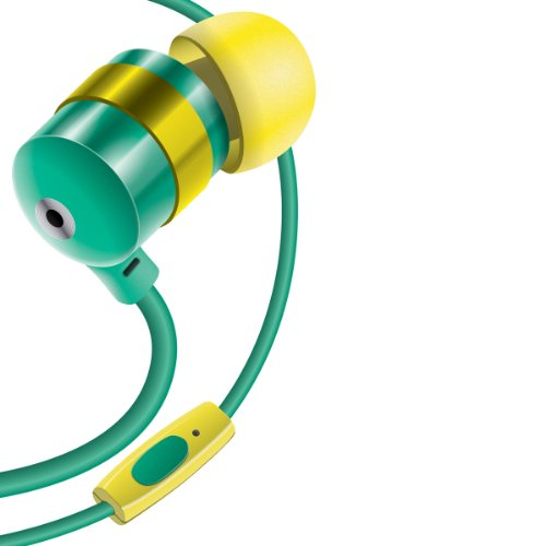 Gogroove Audiohm Hf Ergonomic Earbuds Earphones W/ Hands-Free Microphone & Deep Bass ( Emerald Green ) For Htc One Max , M7 , Lg G2 & More!