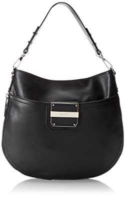 MILLY Colby Bucket Shoulder Bag,Black,One Size