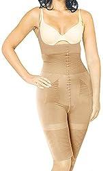 EVANA Women's Polyester Shapewear (SLB-02_BrownMedium)