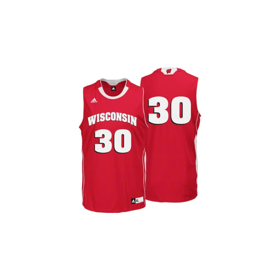 8fad83417d10c Wisconsin Badgers adidas Road Red Replica Basketball Jersey on PopScreen