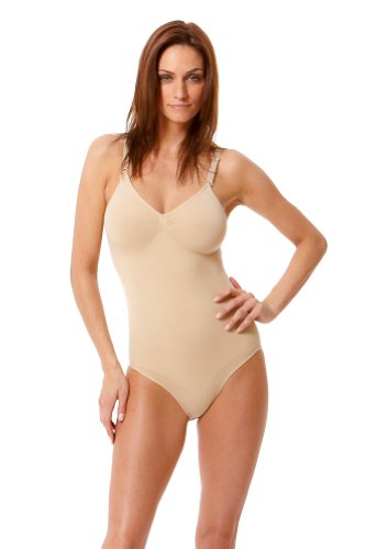 All-in-One Body Suit Slimmer With Straps By Body Beautiful Nude Small/Medium