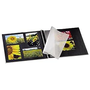 Hama Fotoalbum Fine Art, 50 schwarze Seiten (25 Blatt), Spiralalbum 36 x 32cm, mit Ausschnitt für B