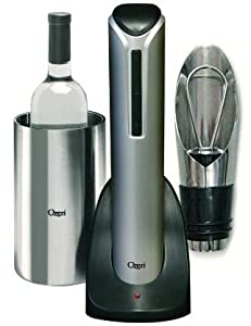 Ultimate Wine Gift Set with Cordless Electric Wine Opener, Wine Chiller, Pourer & Stopper