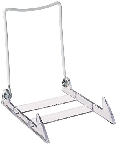 Gibson Holders Large Display Stand Clear Base/White Wire (Plastic Plate Stand compare prices)