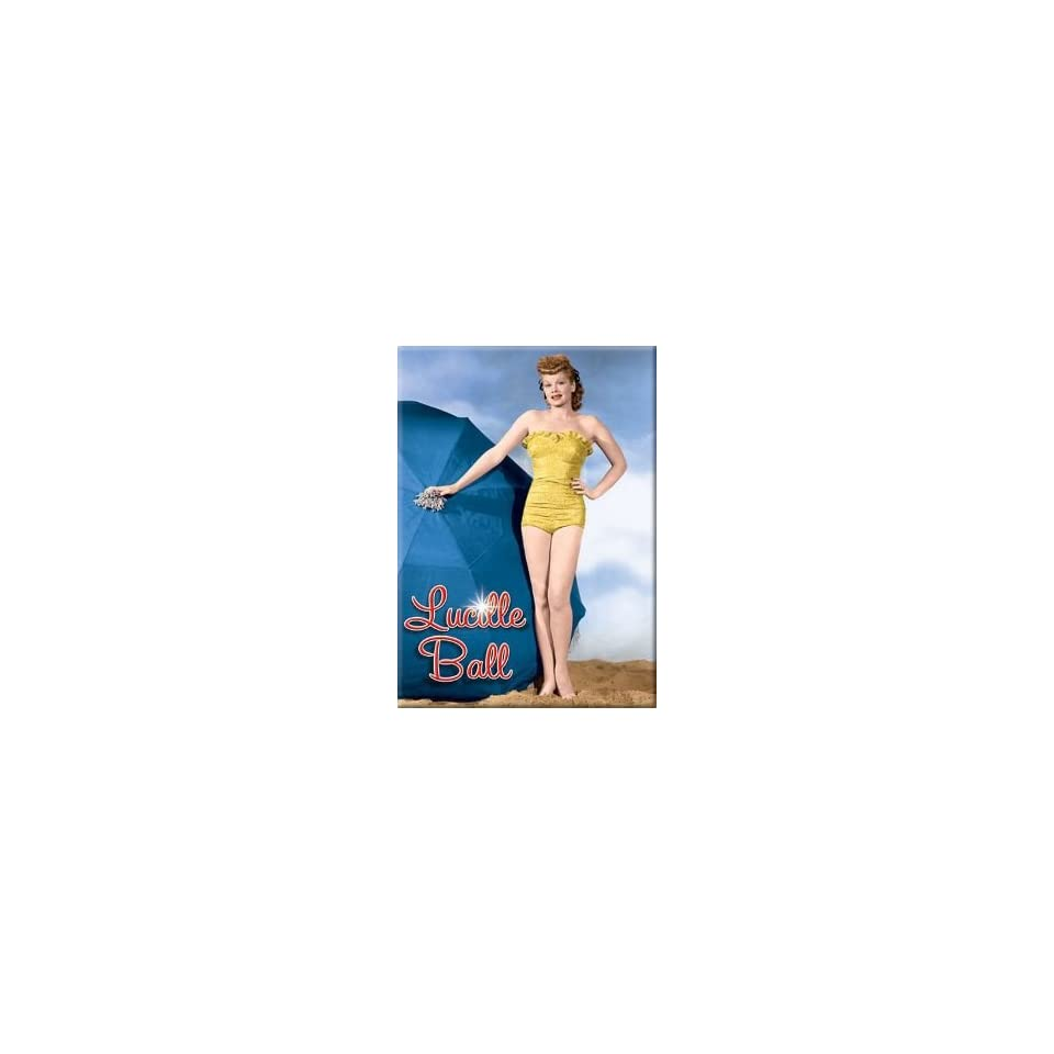 I Love Lucy Lucille Ball Yellow Bikini Magnet 29633LU
