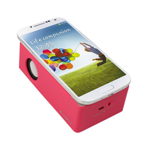 Zps(Tm) Interaction Functional Wireless Speaker For Iphone 4Gs 5G/5S/5C I9300 I9500 Mp3 (Hot Pink)