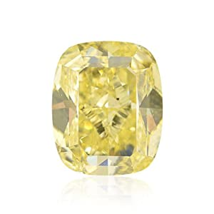 Yellow Loose Diamond Cushion Cut Natural Fancy Color GIA Cert 5.00 Carat SI1