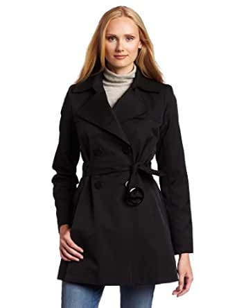 Via Spiga Women's Fall Rain Scarpa Trench Coat, Black, X-Small